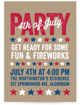 Stamped Stars 4th of July Online Invitations
