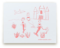 Your Drawing as Letterpress Art Print