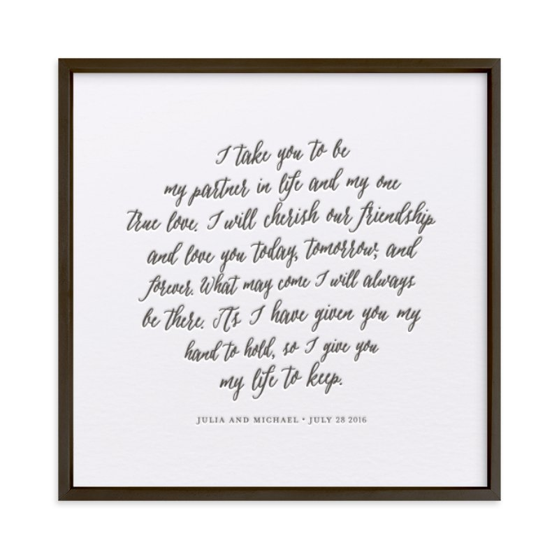 Your Vows as a Letterpress Art Print Your Drawing As Letterpress Art Print