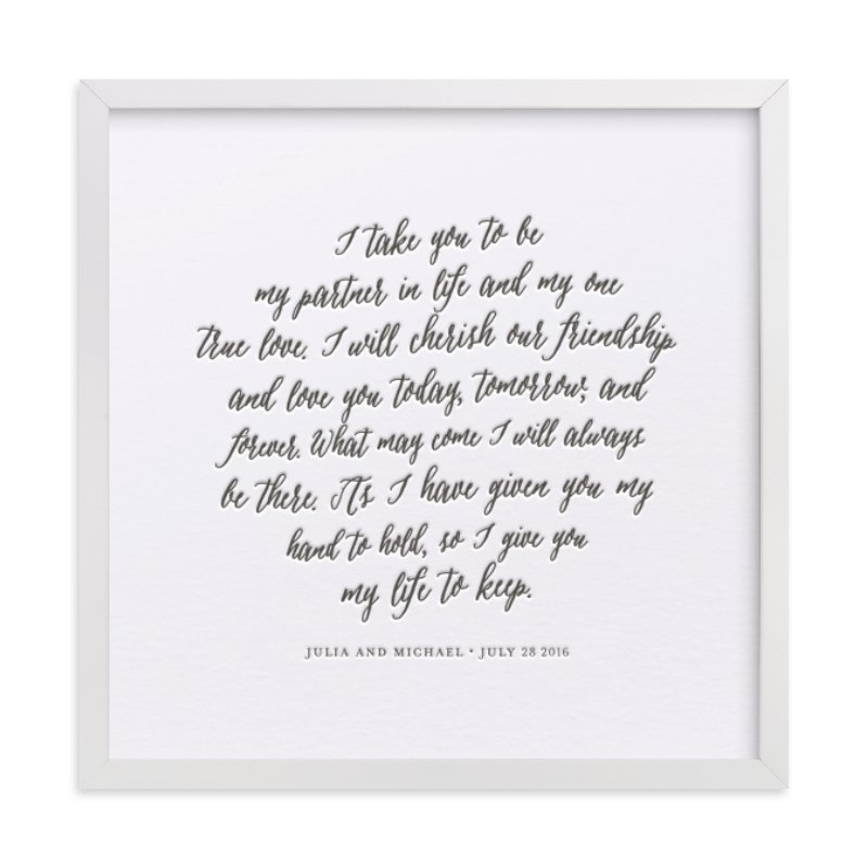Your Vows as a Letterpress Art Print Your Drawing As Letterpress Art Print