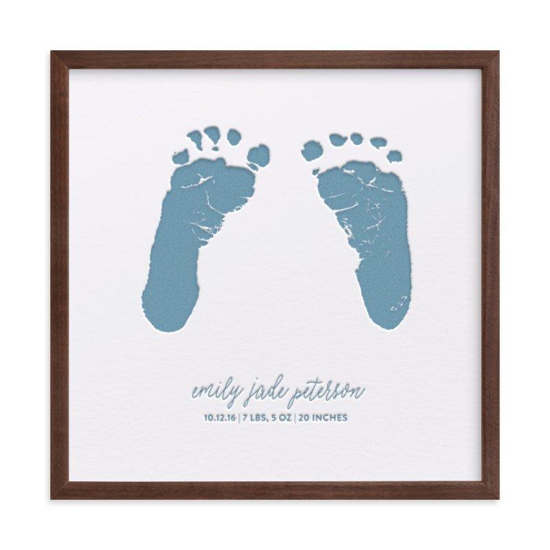 Custom Footprints Letterpress Art Your Drawing As Letterpress Art Print