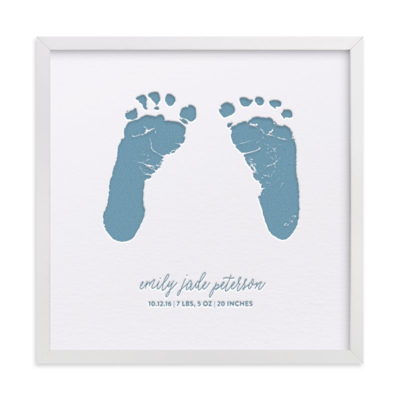 """""""Custom Footprints Letterpress Art"""" - Drawn Letterpress Art by Minted in beautiful frame options and a variety of sizes."""