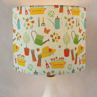 Gardener's Joy Drum Lampshades