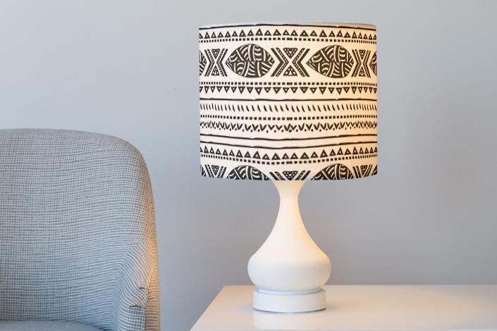 Lampshade across room