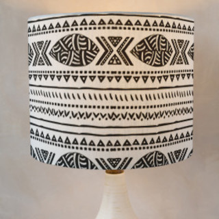 African Tribal Forest Drum Lampshades