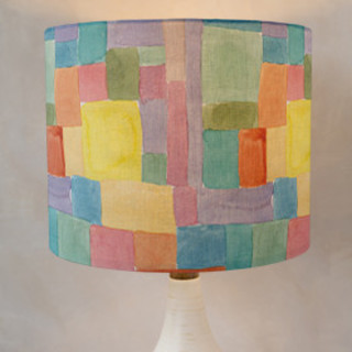 Patchwork Watercolor Drum Lampshades