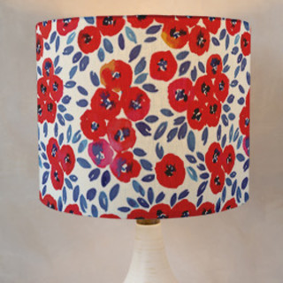 Cute Red Little Flowers Drum Lampshades