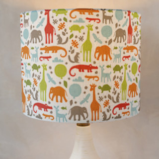 Day at the Zoo Drum Lampshades