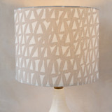 Painted Triangles Drum Lampshades
