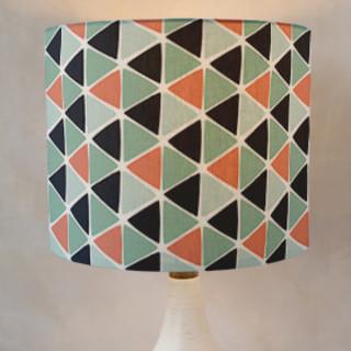 Geometric Triangles Drum Lampshades