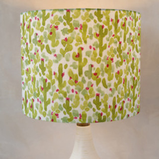 Prickly Pear Cacti Drum Lampshades