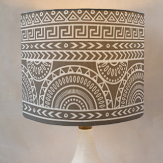 Tribal Mix Drum Lampshades
