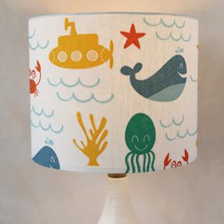 Under the Sea Drum Lampshades