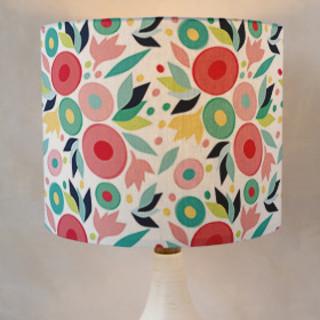 Floral Pattern Drum Lampshades