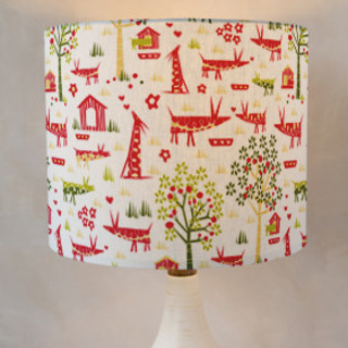 Orchard Animals Drum Lampshades