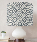 Painterly Ikat Drum Lampshades