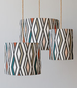 50's diamonds Drum Lampshades