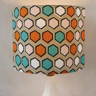Bright Hexagons Drum Lampshades