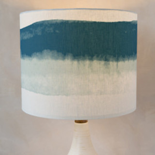 Bold Watercolor Stripes Drum Lampshades