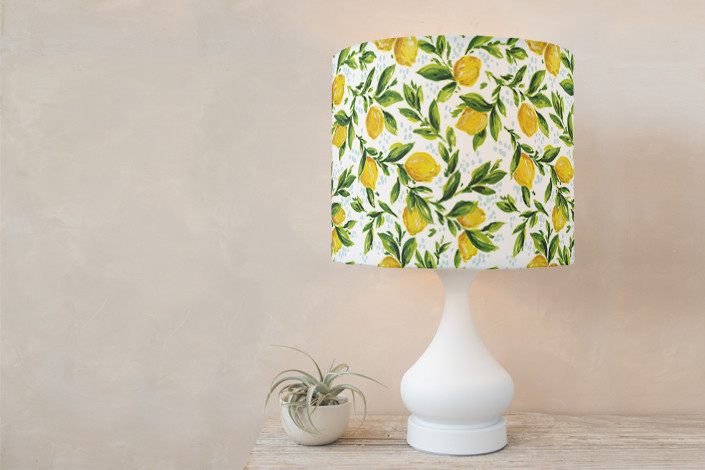 Lemon grove drum lampshade by kirby lee smith minted lemon yellow lampshade aloadofball Image collections