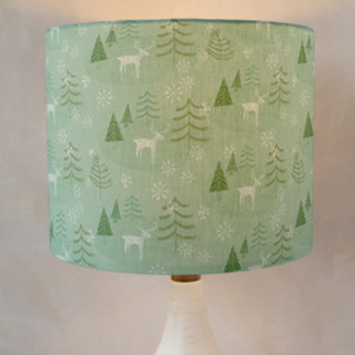 Juniper Winter Forest Drum Lampshades