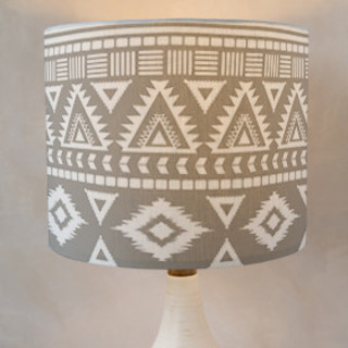 Tribal Drum Lampshades