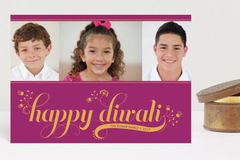 Floral Diwali Diwali Petite Cards