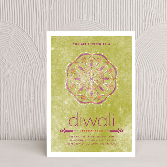 """Celebratory Ringol"" - Diwali Petite Cards in Peridot by Aspacia Kusulas."