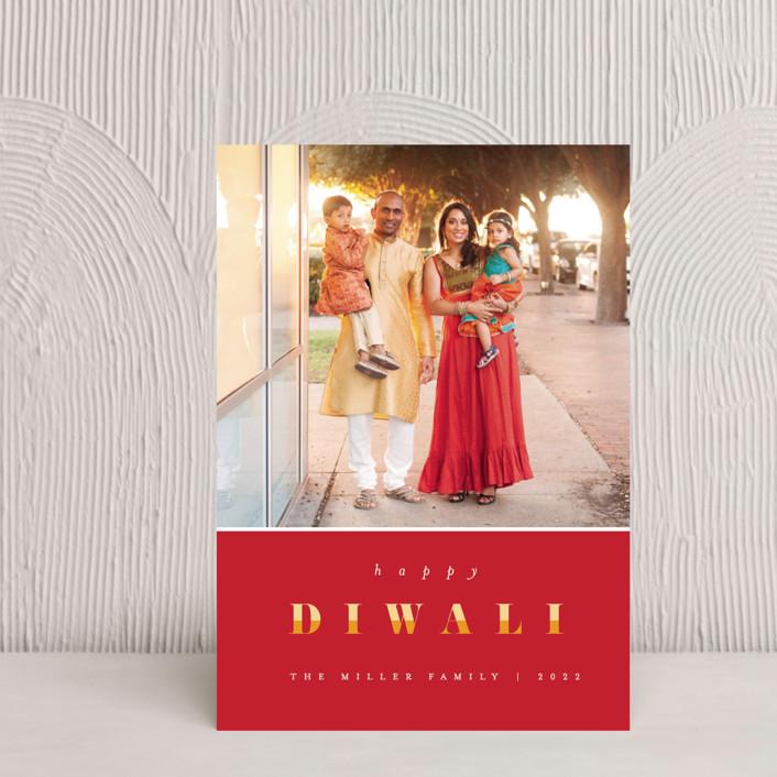 """Bright Diwali"" - Modern Diwali Petite Cards in Festive by Pixel and Hank."