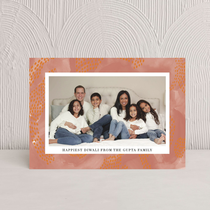 """Speckled Brush"" - Diwali Petite Cards in Pumpkin by Annie Montgomery."