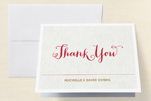 Chinese One Month Baby Thank You card