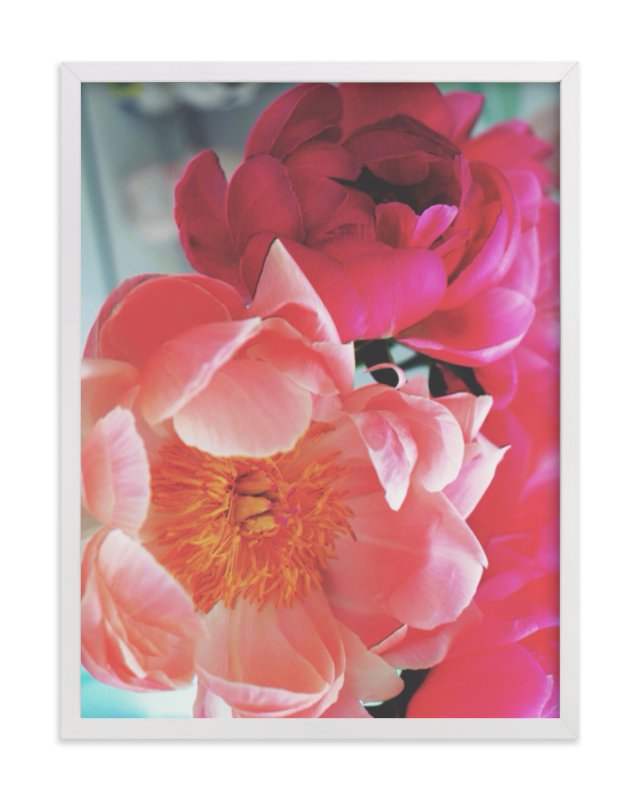 """Vintage Peonies"" - Limited Edition Art Print by HafnHafStudio in beautiful frame options and a variety of sizes."
