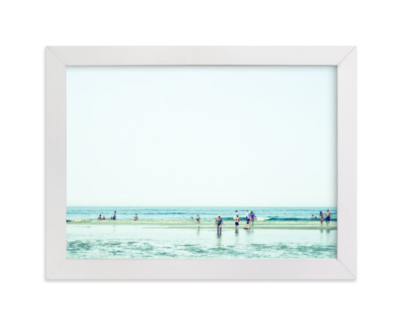 """""""Mint Beach"""" - Limited Edition Art Print by Alexandra Feo in beautiful frame options and a variety of sizes."""