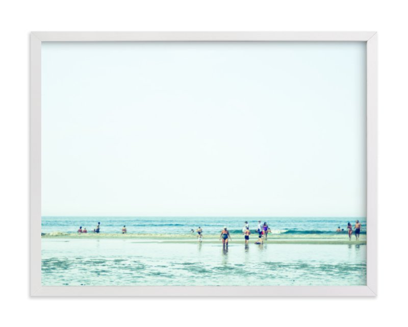 """Mint Beach"" - Limited Edition Art Print by Alexandra Feo in beautiful frame options and a variety of sizes."