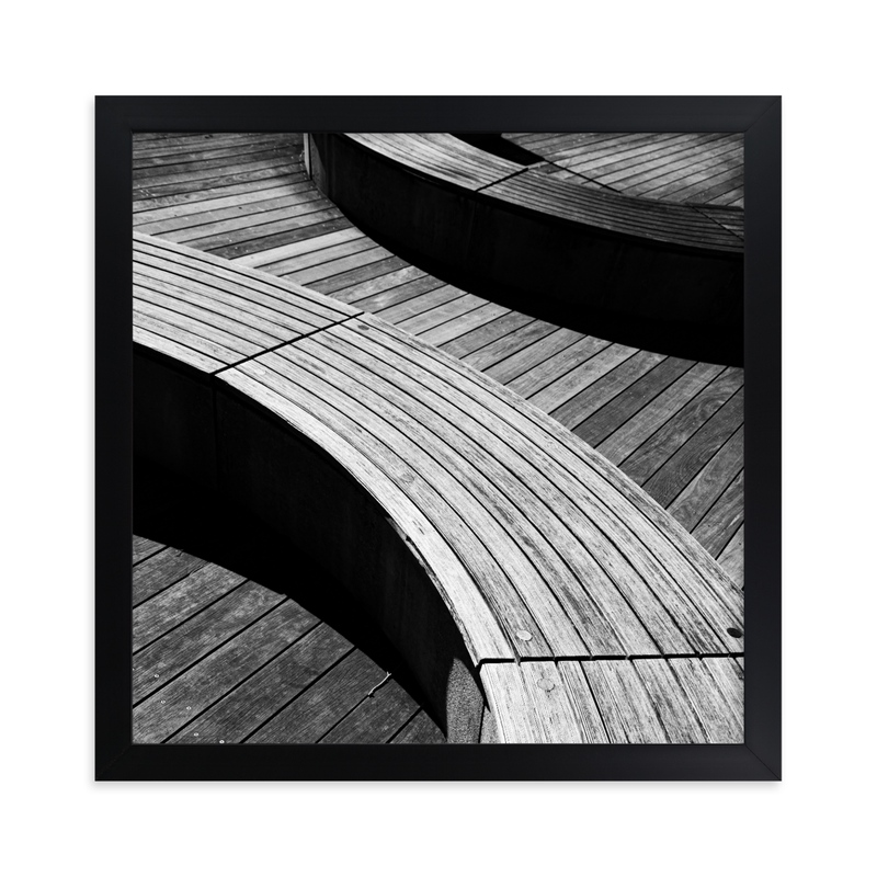"""""""Curve Bench Geometric III"""" - Limited Edition Art Print by Van Tsao in beautiful frame options and a variety of sizes."""