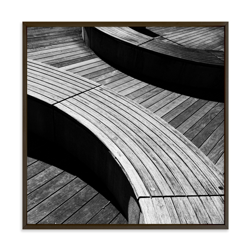Curve Bench Geometric III Wall Art Print