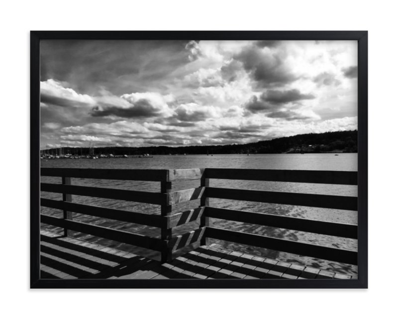"""Boardwalk Shadow"" - Limited Edition Art Print by Leah Lenz in beautiful frame options and a variety of sizes."