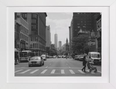 New York Streets  Domino Non-custom Art Print