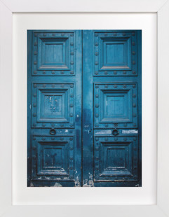 Behind Door Number 1 Domino Non-custom Art Print