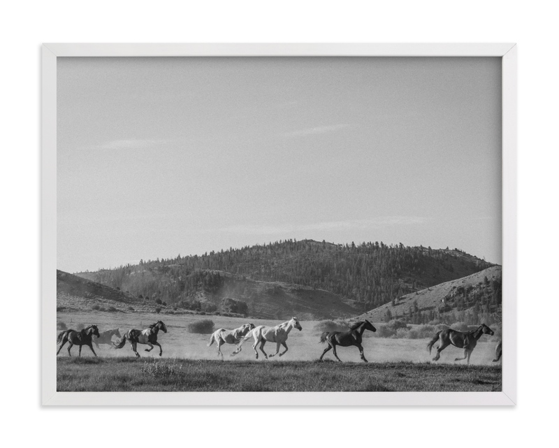 This is a black and white art by Sara Hicks Malone called wild wild west II.