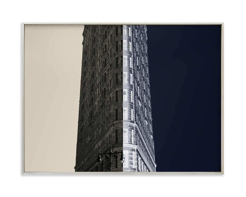 Negative Space: New York Flatiron II Wall Art Print