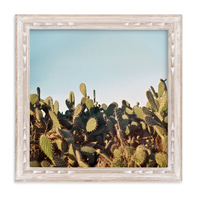 """""""Cactus in a sunset"""" - Limited Edition Art Print by Susanna Nousiainen in beautiful frame options and a variety of sizes."""