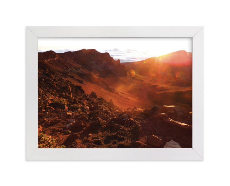 """Sunrise on the Crater"" - Limited Edition Art Print by Kelsey McNatt in beautiful frame options and a variety of sizes."