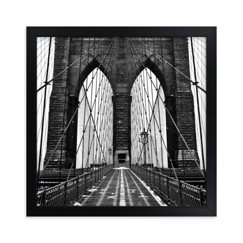 """Snowing Bridge"" - Limited Edition Art Print by Jason Derck in beautiful frame options and a variety of sizes."