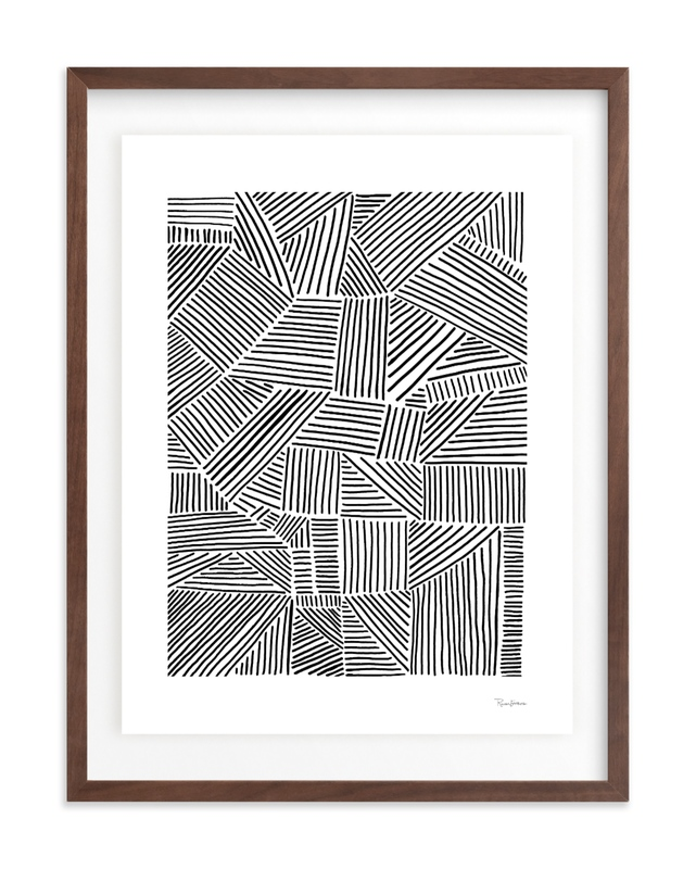 Criss Cross Wall Art Print