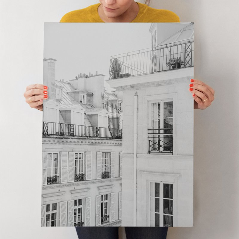 """Parisian Rooftops"" - Limited Edition Art Print by Lindsay Ferraris Photography in beautiful frame options and a variety of sizes."
