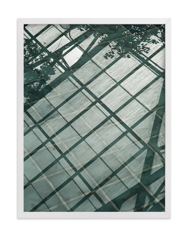 This is a green art by van tsao called Weaves of shadows I.