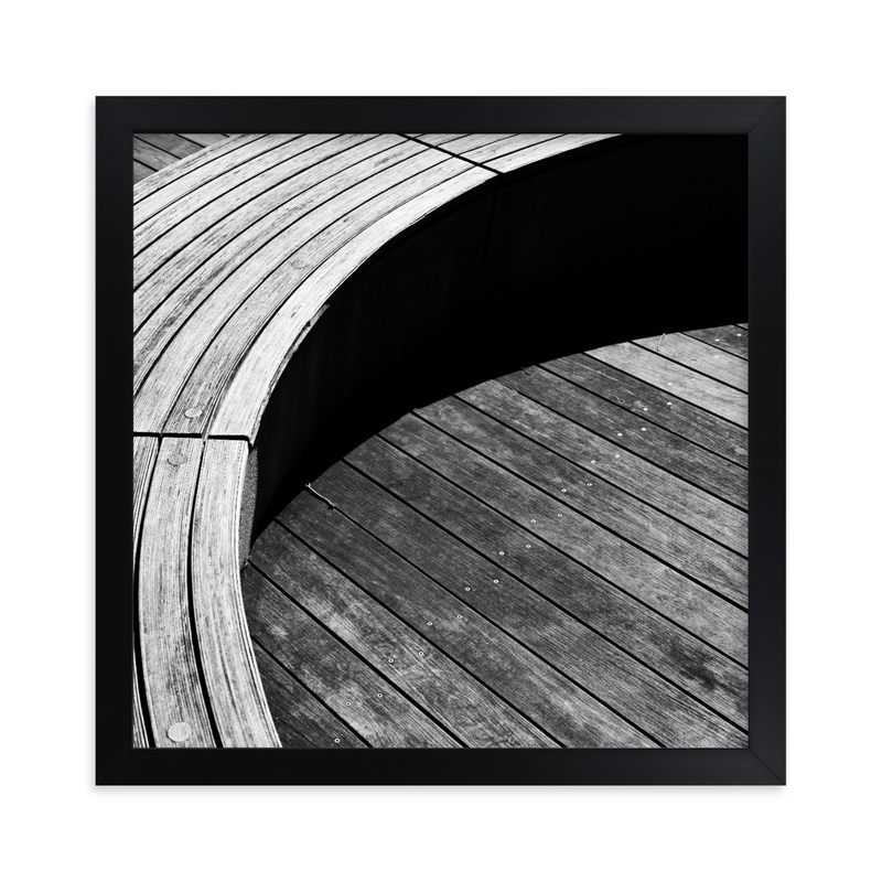 """Curve Bench Geometric I"" - Limited Edition Art Print by Van Tsao in beautiful frame options and a variety of sizes."