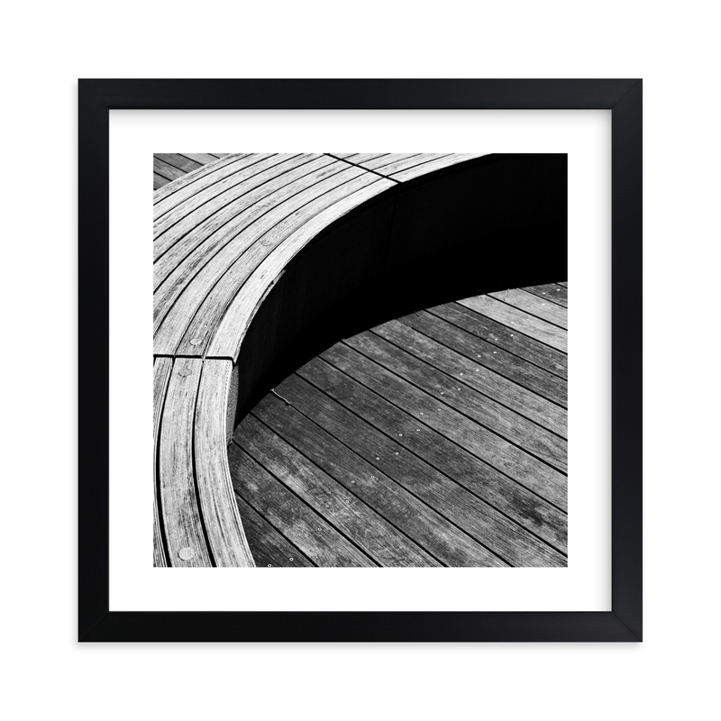 """""""Curve Bench Geometric I"""" - Limited Edition Art Print by van tsao in beautiful frame options and a variety of sizes."""