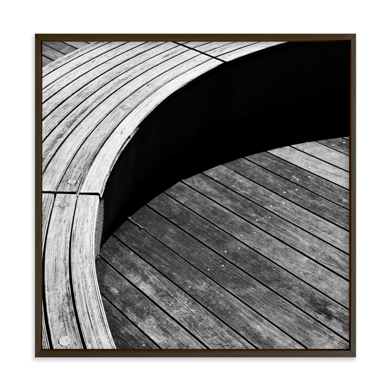 Curve Bench Geometric I Wall Art Print